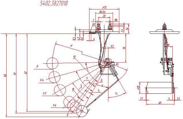 Эл.схема датчика уровня топлива 2108.